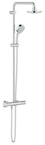 GROHE Tempesta Cosmopolitan System 160 | Brause- und Duschsystem - mit Thermostatbatterie und Temperatursicherheitssperre | chrom | 27922000