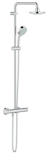 GROHE Tempesta Cosmopolitan System 160 | Brause- & Duschsystem - mit Thermostatbatterie und Temperatursicherheitssperre | chrom | 27922000