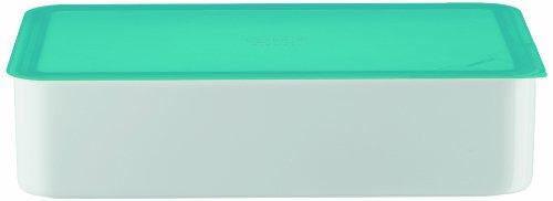 Arzberg-Porzellan 3330/09982/3925 Boîte pour Conserver Les Aliments avec Couvercle en Plastique Turquoise 15 x 25 cm