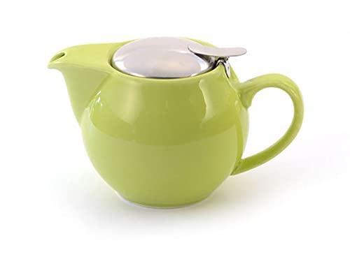 McEntee's Aran - Tetera de cerámica (500 ml, 1-2 tazas) con infusor de acero inoxidable extraíble, color verde lima)