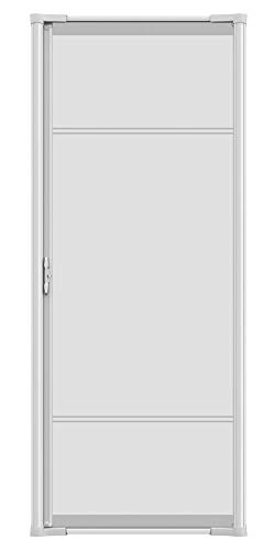 "Brisa White Aluminum Frame Retractable Screen Door 78"" Single"