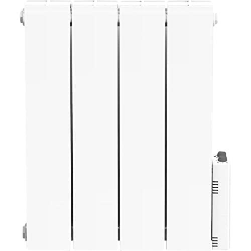 HEATZY DIO080964 - Radiateur électrique à inertie avec Thermostat connecté - Fluide caloporteur - 1000 Watts - Blanc - Gamme Blu - Bluetooth - programmable