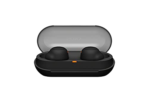 Sony WF-C500 True Wireless Kopfhörer (bis zu 20 Stunden Akkulaufzeit mit Ladeetui, - kompatibel mit Voice Assistant, integriertes Mikrofon für Telefonate, Bluetooth) Schwarz