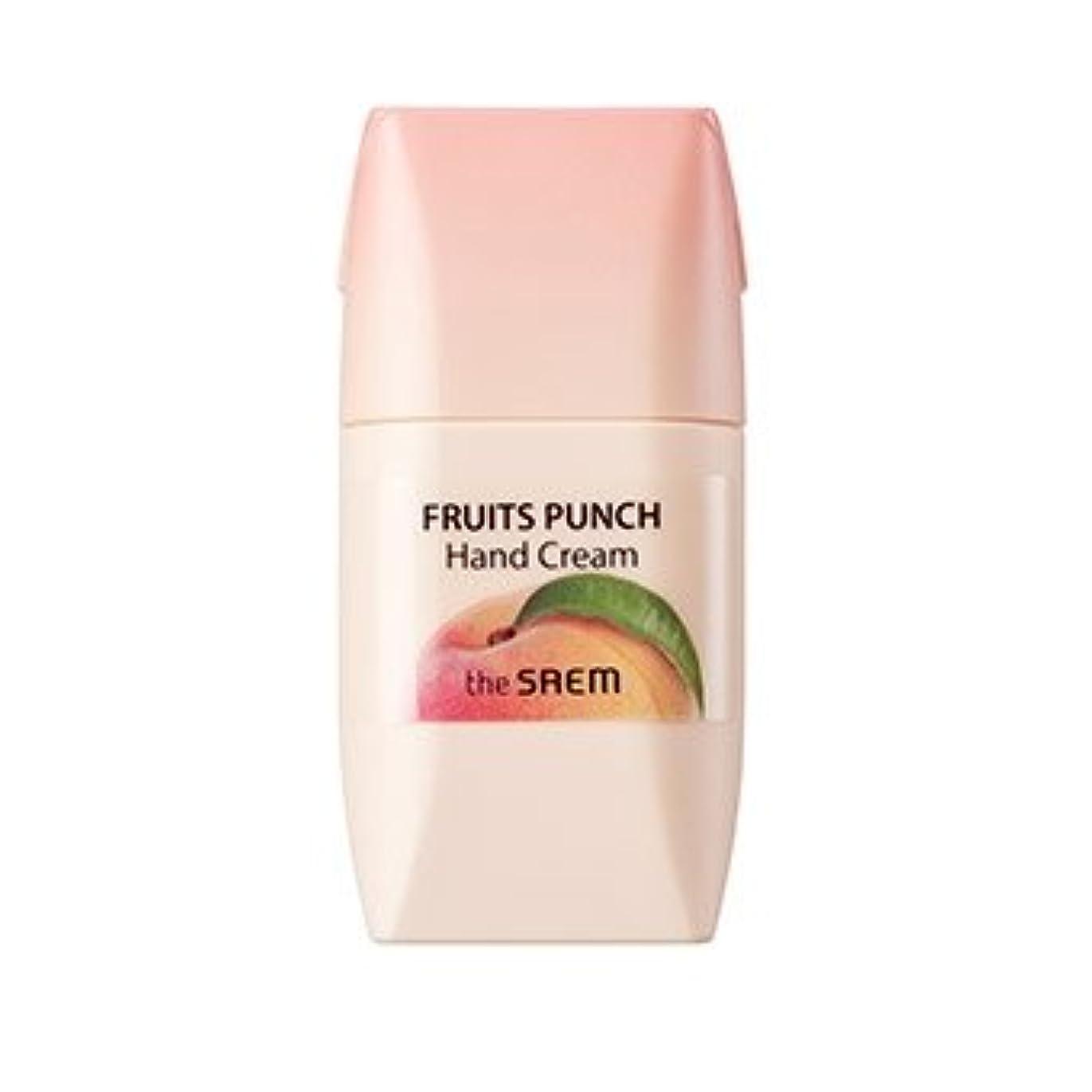 アンカーつまずくキャラクターthe SAEM Fruits Punch Hand Cream 50ml/ザセム フルーツ ポンチ ハンドクリーム 50ml (#Peach) [並行輸入品]