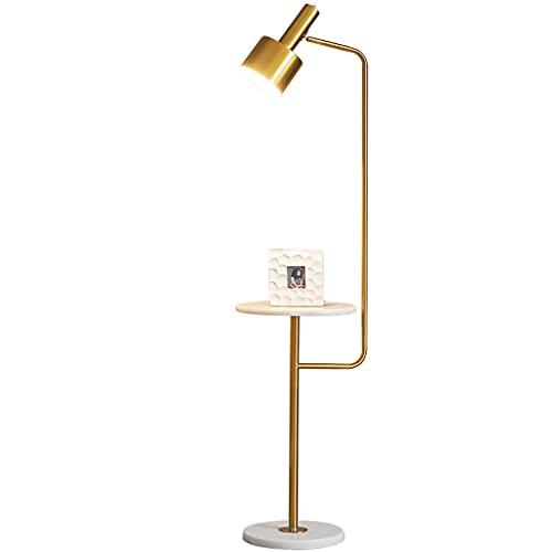 ZHONGTAI Mesa de café Lámpara de pie Mármol Metal Piso Luz Nórdica Sencillez Lámpara de pie para la Pintura de Costura Piano de pie Luz de pie