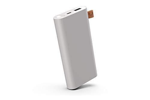 Fresh 'n Rebel Powerbank 12000 mAh USB-C | Tragbares Ladegerät/Externer Akku - 2-ports USB-C & USB für iPhone, iPad,Huawei,Samsung, Nexus, HTC und mehr – Ice Grey