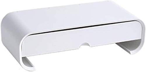 ZouYongKang Soporte de monitor plegable elevador, soporte de computadora ajustable con cajón de almacenamiento Tableta y titular de soporte de teléfono Escritorio Organizador para TV PC Portátiles Imp