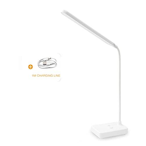 YSJJZDE Lámpara de Escritorio Lámpara de Mesa Brillante DIRIGIÓ Flexo Escritorio Lámpara Toque Piezo Regulable Luz de Lectura USB Dormitorio de Oficina Recargable lámpara de Noche Eye