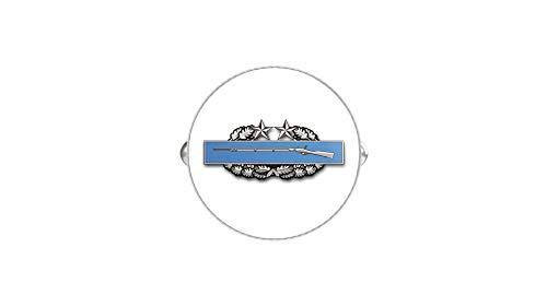HOF Trading US Army Combat Infantry Badge 3rd Award Round Silver Cufflink Set