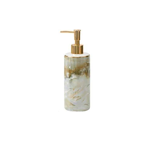 WPBOY Cerámica dispensador de jabón, loción Ronda Recargable Botella de la Bomba de jabón Manual de Gran Capacidad for el baño del Fregadero de Cocina 13,1 oz (Color : Marble Pattern)