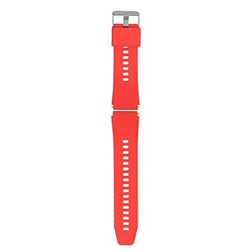 Romacci Pulseira de relógio de 22 mm pulseira de liberação rápida de silicone macio com fivela pulseira respirável compatível com relógio inteligente/tradicional de 22 mm