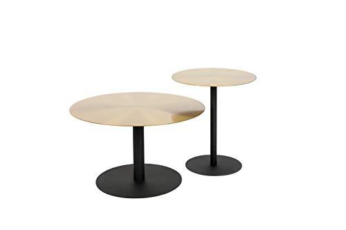 Beistelltisch rund Snow Brushed, Oberfläsche Gold gebürstet, Verschiedene Größen Muster Coffee Table - Durchmesser 60cm, Höhe 38cm