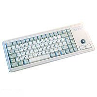 Cherry Slimline Light Grey Tastatur mit Trackball