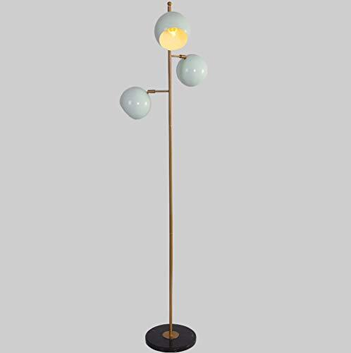 lampadaire Lampadaire, Lampadaire En Marbre, Lampadaire Vertical, Bleu Clair, E27, Salon Chambre Étude Chevet