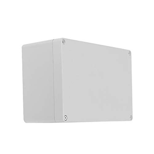 Kunststoffgehäuse, 150 x 200 x 100, IP65 ABS, weiß, wetterfest, für den Außenbereich, Außenanschluss, Stromabzweigdose, komplett mit Stecker