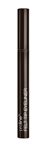 Wet N Wild ProlineTM Felt Tip Eyeliner – stift met vloeibare eyeliner voor nauwkeurig aanbrengen, Dark Brown, 1-pack 0,5 g