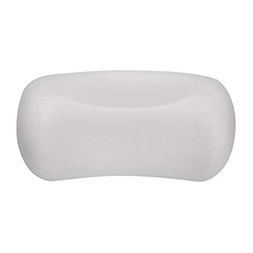 WXZQ Almohadas de baño de SPA Cojín de baño ergonómico Suave con 2 ventosas Potente Antideslizante Impermeable Transpirable Se Adapta a Cualquier bañera Blanco