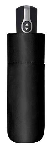 doppler Taschenschirm Carbonsteel Magic XS Black – Extrem robust – Windkanal getestet – Schwarz