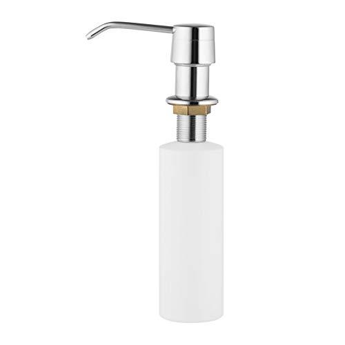 Designer Messing Seifenspender Küche, Einbau Seifenspender für Arbeitsplatte Spüle Spender Spülmittel Küche Spuelmittelspender Dispenser Einbauseifenspender Spülmittelspender-für-Küche (Chrom)