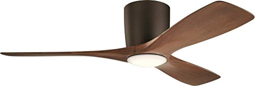 Kichler 300032SNB Volos, 48'' Ceiling Fan with LED Lights & Wall Control, Satin Natural Bronze