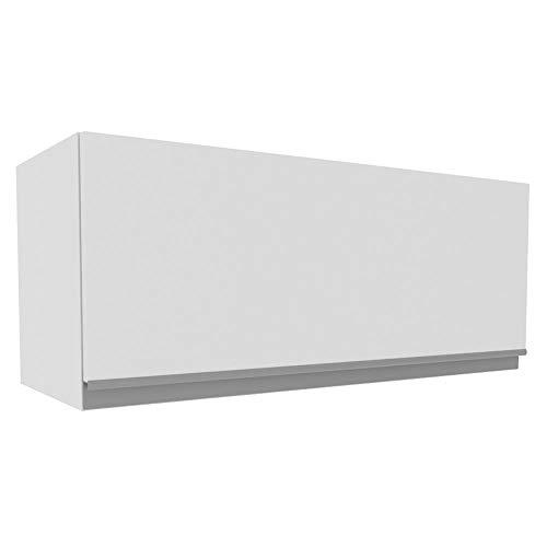 Armário Aéreo Madesa Acordes 100% MDF 80 cm - Porta Branco Brilho