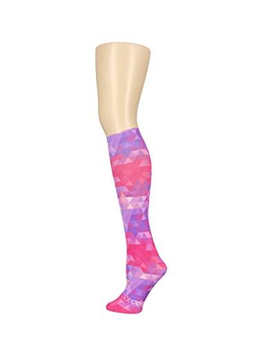 Hocsocx Schienbeinschoner Rash unter Socken - Hockey/Fußball Mädchen/Damen/s (rosa Kaleidoskop, 36-42)