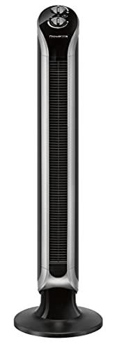 Rowenta Eole Infinite VU6620, stående fläkt, pelarfläkt, oscillation 40 W svart, 40 W, 240 V