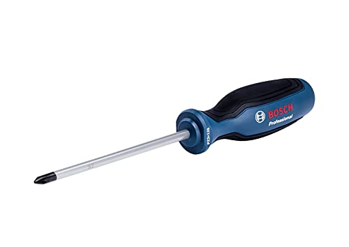 Bosch Professional 1600A01V08 Destornillador Pozidriv (Punta PZ2 x 125 mm, Acero S2), azul