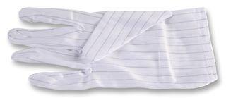 109-0915-Handschuhe, ESD, gestreift, weiß, Polyester, Größe L, Fingerhandschuhe