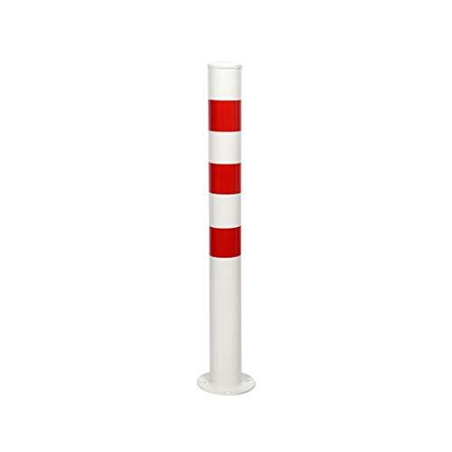 Q-kerb ramps Warnmast aus Metall, zylindrische reflektierende Sicherheitssäule für den Außenbereich Transporteinrichtungen Öffentliche Versorgungseinrichtungen, 52-59CM (Farbe : Weiß-1)