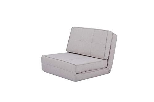 Amazon Basics - Sofá cama, 74 x 80 x 61,5, gris claro