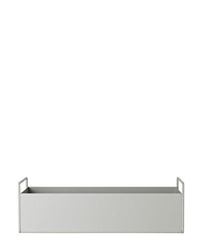 Ferm Living Plant Box Blumenkasten, Metall, hellgrau, 45cm
