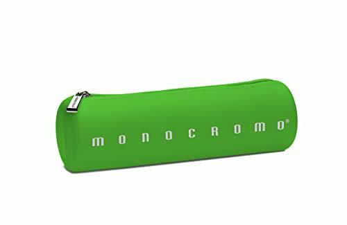 Pigna Monocromo, Astuccio, Portapenne formato Tombolino in Silicone, Verde Fluo
