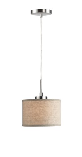 Woodbridge Lighting 13323STN-S10801 1-Light Mini Pendant,...