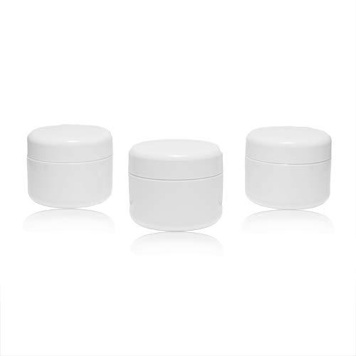 Un ensemble lucratif de conteneurs vides avec un couvercle pour remplir de gel, couleur blanc, plastique, à double paroi - 3x50g