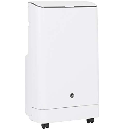 GE Appliances 3-in-1, APCA12YZMW, White GE Portable Air Conditioner with Dehumidifier for Medium Rooms up to 450 sq ft, 12,000 (8,200 BTU SACC)