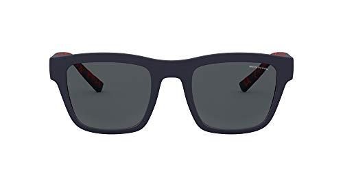 AX4088SF Asian Fit Square - anteojos de sol, color mate, Azul oscuro mate/gris polarizado., 52 mm