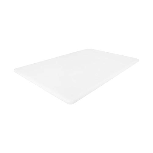 Commercial Plastic Cutting Board, NSF, 18 x 12 x 0.5 Inch, White