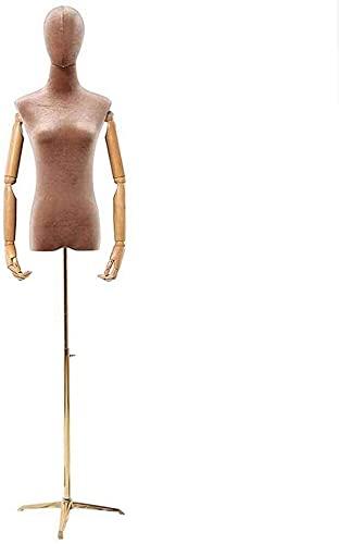 Maniquies Escaparate Torso Ajustable De Maniquí Femenino Con Base De Metal Y Cabeza, Para La Exhibición De Ropa / Decoración De La Habitación / Ventana De La Tienda Maniquies Para Costura Modelo de mo