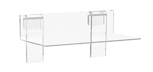 KC Store Fixtures A02110 Acrylic Grid Shelf, 9' W x 4' D x 1/8', Clear (Pack of 5)