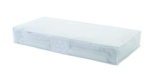 COMPACTOR Extra Flache Unterbettkommode, Anti-Staub, Durchsichtig, Polypropylen und EVA, 45x108x15 cm, RAN2980