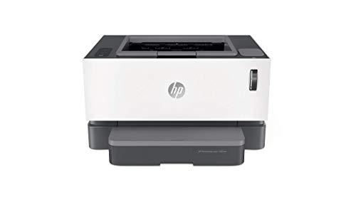 HP Neverstop Laser 1001nw – Impresora con depósito de tóner para imprimir hasta 5000 páginas, Impresión monocromo de hasta 20 ppm (WiFi, USB, HP Smart App), Color Blanco