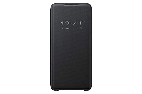Samsung Galaxy S20+ Oficial LED View Case, LED Wallet Cover (Negro)