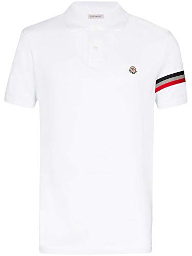 Moncler Luxury Fashion 8A7090084556001 Poloshirt voor heren, wit
