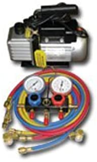 FJC- Inc. FJCKIT6 Vacuum Pump And Manifold Gauge Sett