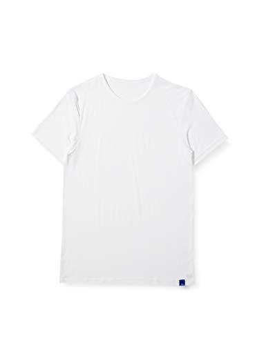 [グンゼ] インナーシャツ クールマジック 吸汗天竺 (吸汗速乾×冷感×消臭) クルーネックTシャツ MC1813 メンズ ホワイト 日本 M (日本サイズM相当)
