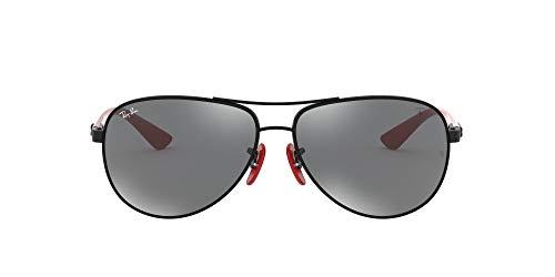Ray-Ban Herren 0RB8313M F0096G 61 Sonnenbrille, Schwarz (Black/Grey Mirror Silver)