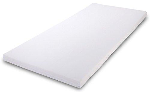 MSS® Soft Matratzenauflage- / Topper mit Bezug - 90 cm x 190 cm x 5 cm