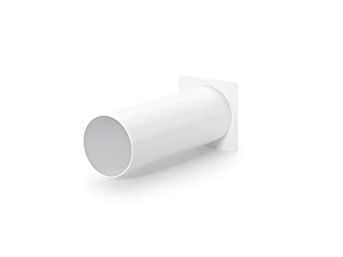 Naber System 125 Maueranschlussstutzen 1, weiß