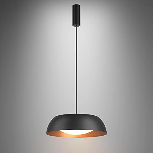 Martll Lámpara Colgante LED Lámpara de Techo Vintage Industrial Retro Lámparas de araña Aluminio Ø40cm Luz de techo Negra para Mesa de Comedor Cocina Salón Bar Cafetería (Φ40cm)